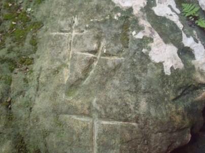Cruces en la font de les Creus.