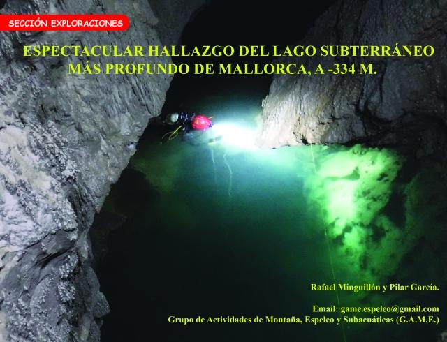 Hallazgo lago subterráneo más profundo de Mallorca Rafael Minguillón BTTersMallorca