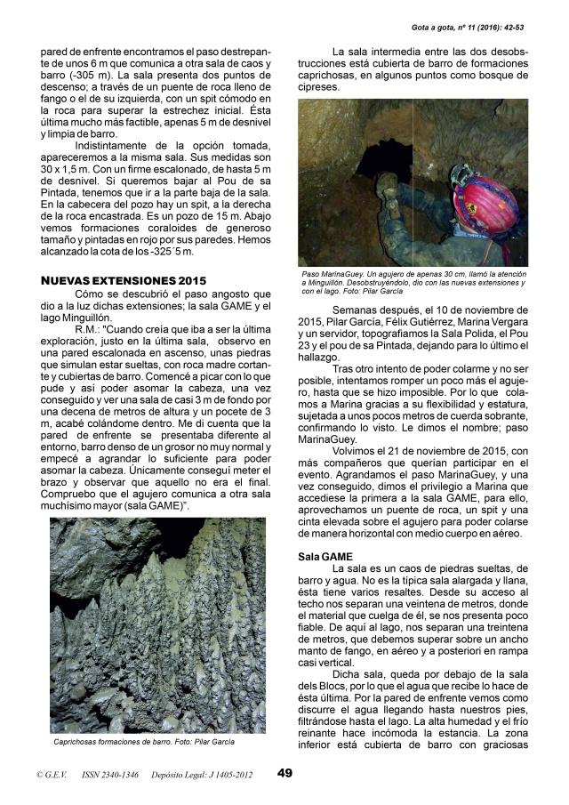 Lago Minguillón cova de sa Campana. BTTersMallorca. Revista Gota a Gota